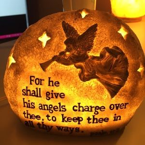 Angel Lamp with Psalm 91:11
